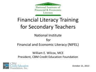 Financial Literacy Training for Secondary Teachers