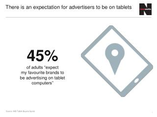 There is an expectation for advertisers to be on tablets