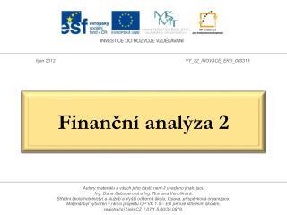 Finanční analýza 2