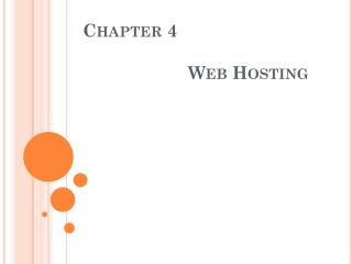 Chapter  4   Web Hosting