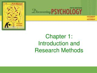 Chapter 1:  Introduction and Research Methods