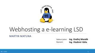 Webhosting  a e- learning  LSD