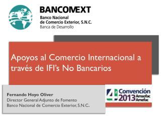 Fernando Hoyo Oliver Director General Adjunto de Fomento