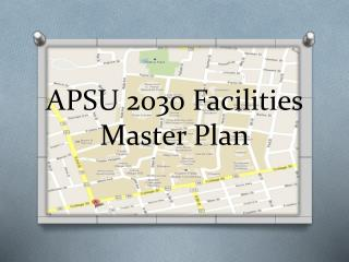 APSU 2030 Facilities  Master Plan