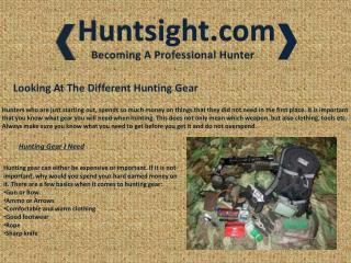 Looking At The Different Hunting Gear