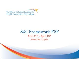 S&I Framework F2F