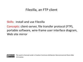S kills :   install and use  Filezilla