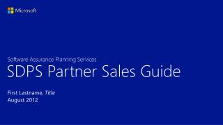 SDPS Partner Sales Guide