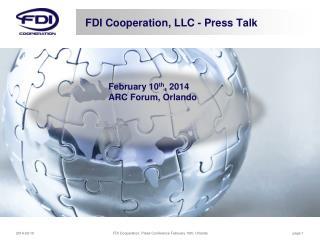 FDI  Cooperation, LLC - Press Talk