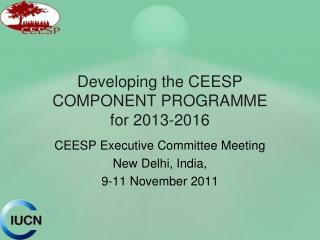 Developing the CEESP COMPONENT PROGRAMME for 2013-2016