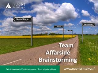 Team Affärsidé Brainstorming