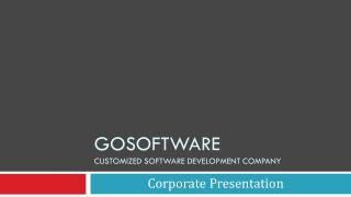 GoSoftware Customized software development  company