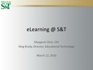 eLearning @ S&T
