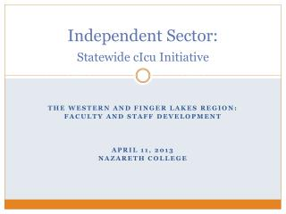 Independent Sector:   Statewide cIcu Initiative