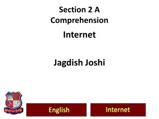 Section 2 A                                  Comprehension