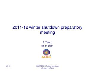 2011-12 winter  shutdown preparatory meeting