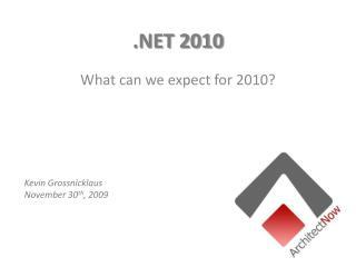 .NET 2010