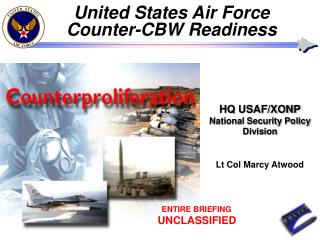USAF Preparation to Fight in a Chemical and Biological Warfare Environment