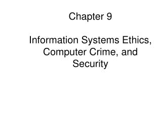 computer ethics and information systems Wiener's information ethics interests, ideas and methods were very broad, covering not only topics in the specific field of computer ethics, as we would call it today, but also issues in related areas that, today, are called agent ethics, internet ethics, and nanotechnology ethics.