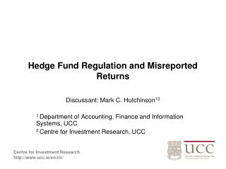 Hedge Fund Regulation and Misreported Returns