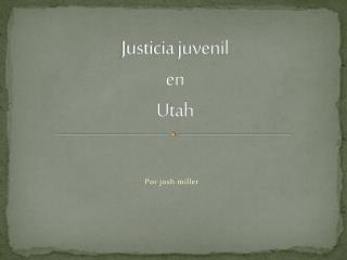 Justicia juvenil  en Utah