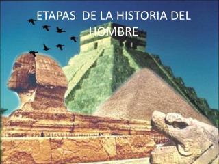 ETAPAS  DE LA HISTORIA DEL HOMBRE