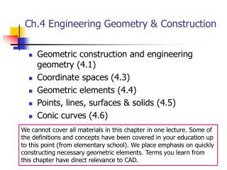 Ch.4 Engineering Geometry & Construction