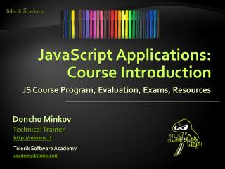 JavaScript Applications: Course Introduction