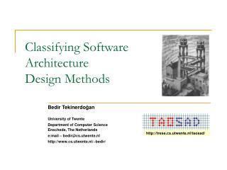 Classifying Software  Architecture  Design Methods
