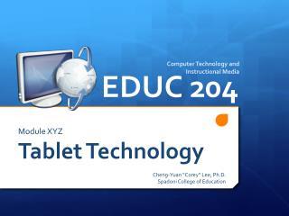 Module XYZ Tablet Technology