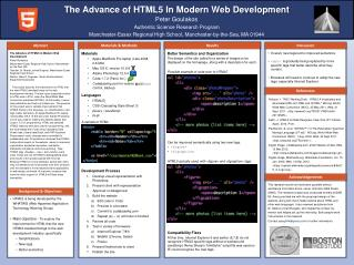 The Advance of HTML5 In Modern Web Development