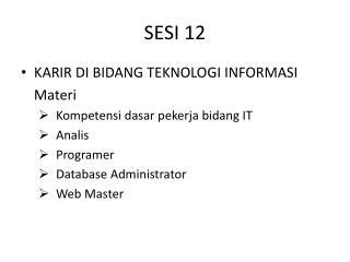 SESI 12