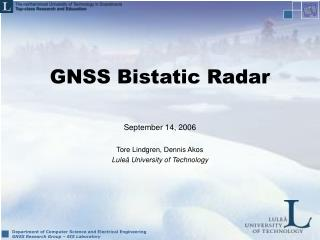 GNSS Bistatic Radar