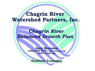 Chagrin River  Watershed Partners, Inc.  Chagrin River Balanced Growth Plan
