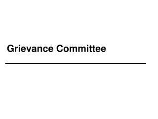 Grievance Committee