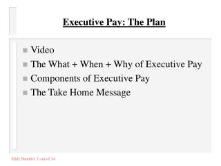 Executive Pay: The Plan