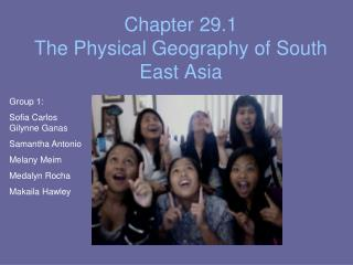 Chapter 29.1 The Physical Geography of South East Asia