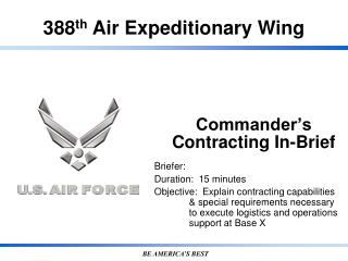 Commander�s Contracting In-Brief