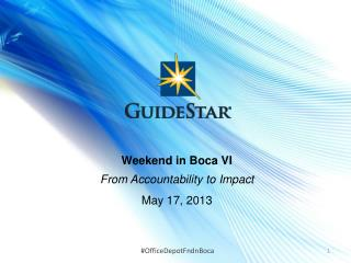 Weekend in Boca VI From Accountability to Impact May 17, 2013