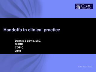 Handoffs in clinical practice