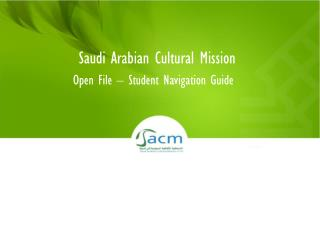 Open File � Student Navigation Guide