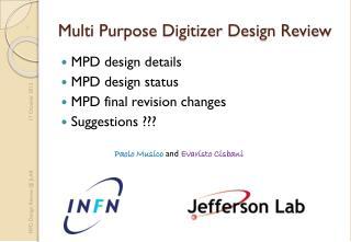 Multi Purpose Digitizer Design Review