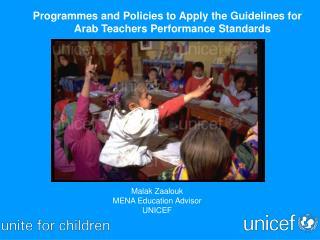 Malak Zaalouk  MENA Education Advisor UNICEF