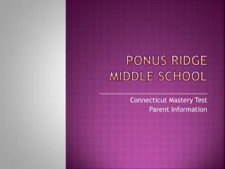 Ponus  Ridge Middle School