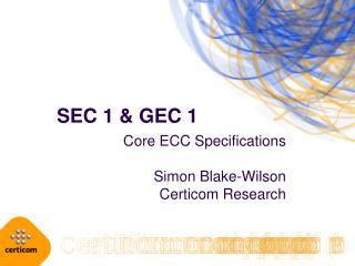 SEC 1  GEC 1