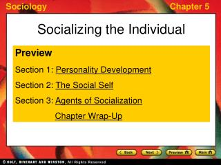 Socializing the Individual