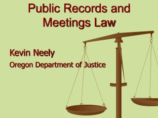 Public Records and Meetings Law