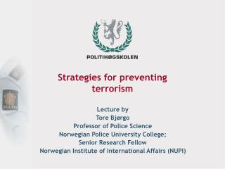 Strategies for preventing  terrorism