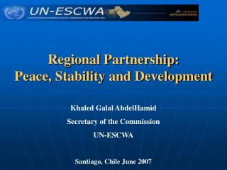 Regional Partnership: Peace, Stability and Development