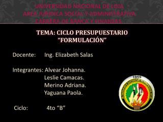 UNIVERSIDAD NACIONAL DE LOJA  AREA JURIDICA SOCIAL Y ADMINISTRATIVA  CARRERA DE BANCA Y FINANZAS.